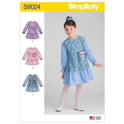 Simplicity 9024 A Barn Storlek 3-8 Klänning