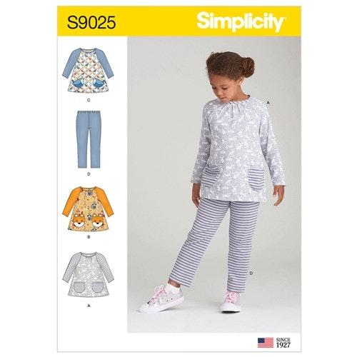 Simplicity 9025 A Barn Storlek 3-8 Flera Plagg