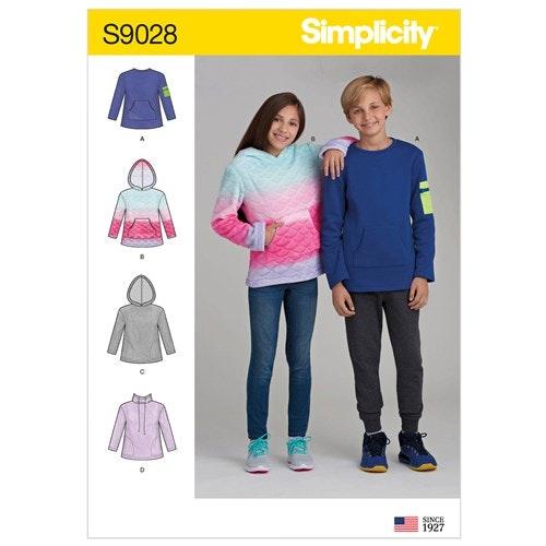 Simplicity 9028 A Barn Storlek 8-16 Tröja Hoodie