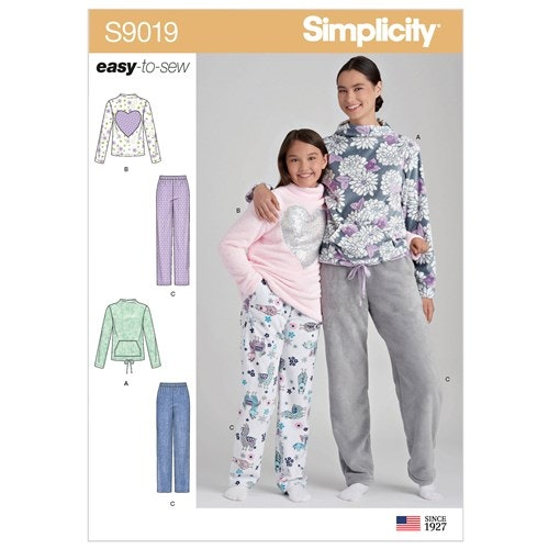 Simplicity 9019 A  Barn Dam Storlek S-L / XS-XL Flera plagg