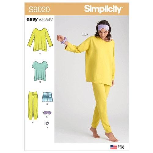 Simplicity 9020 A Dam Storlek XXS-XXL Flera plagg