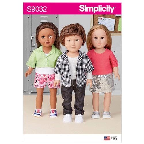 Simplicity 9032 OS Dockkläder 45,5 cm