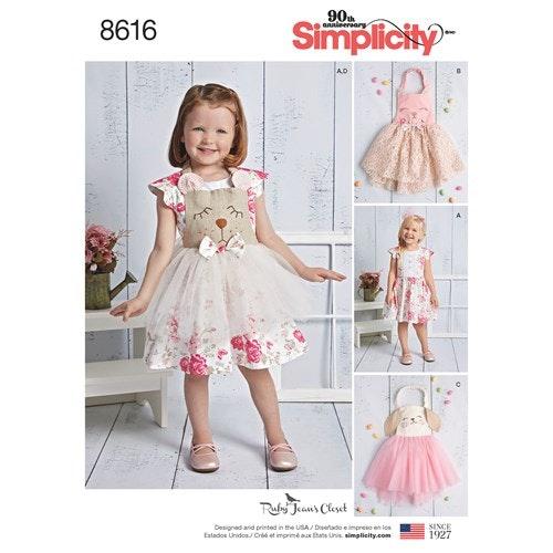Simplicity 8616 A Barn storlek 1/2-4 Klänning