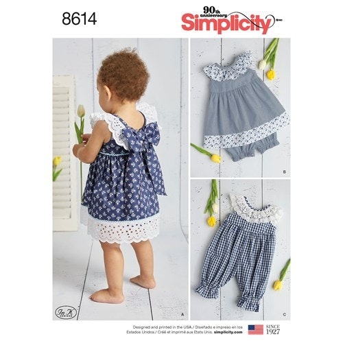 Simplicity 8614 A Barn Baby Storlek XXS-L