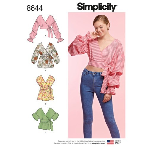 Simplicity 8644 U5 Dam stl 42-50 Överdel