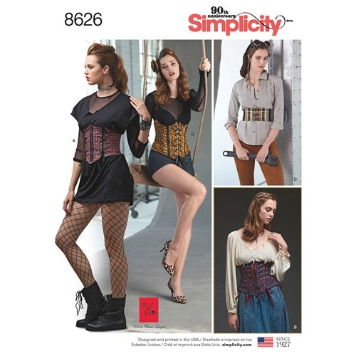 Simplicity 8626 H5 Dam stl 32-40 Överdel