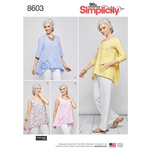 Simplicity 8603 A Dam stl XS-XL Överdel