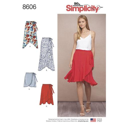 Simplicity 8606 R5 Dam storlek 40-48 Kjol