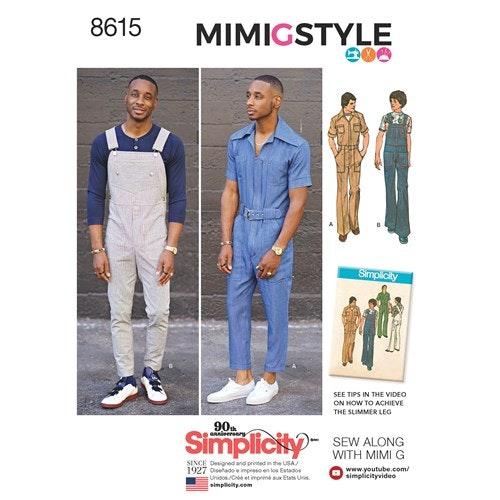 Simplicity 8615 BB Herr Storlek 54-62