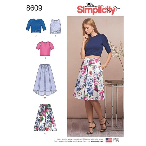 Simplicity 8609 D5 storlek 30-38 Flera plagg