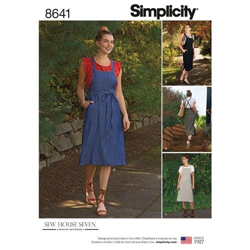 Simplicity 8641 H5 Dam Storlek 32-40 Klänning
