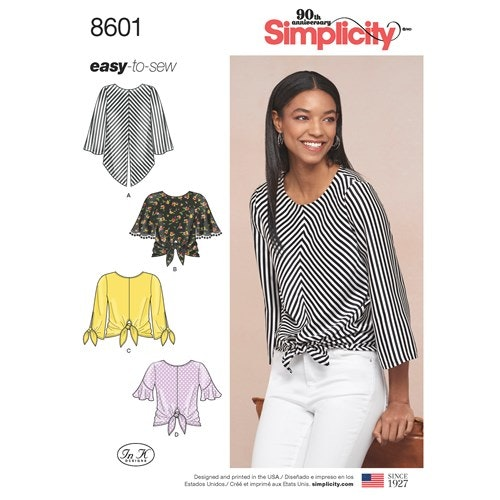 Simplicity 8601 H5 Dam storlek 32-40 Överdel