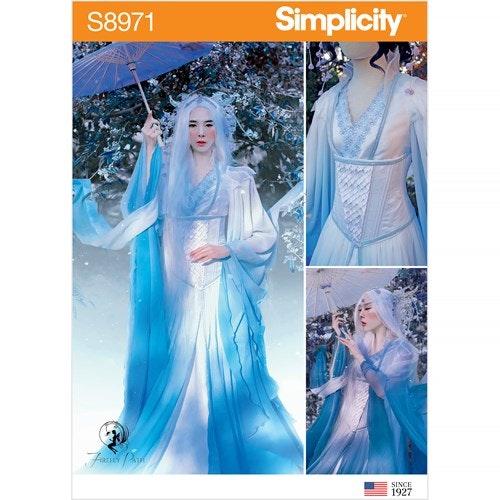 Simplicity 8971 H5 Dam Storlek 32-40 Klänning