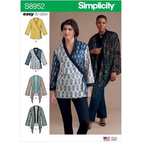 Simplicity 8952 A Dam storlek XXS-XXL Kimono