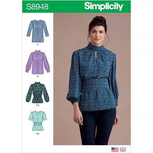 Simplicity 8948 H5 Dam storlek 32-40 Blus
