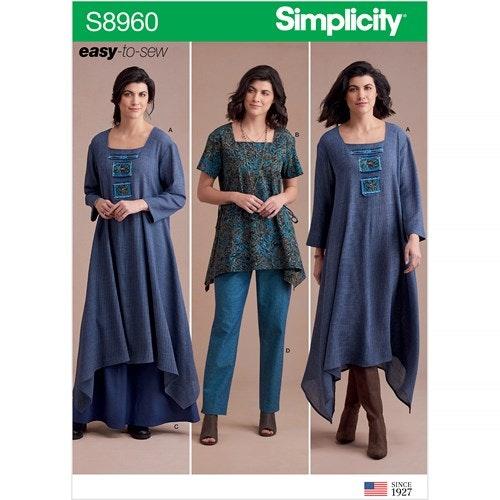 Simplicity 8960 H5 Dam Storlek 32-40 Flera plagg
