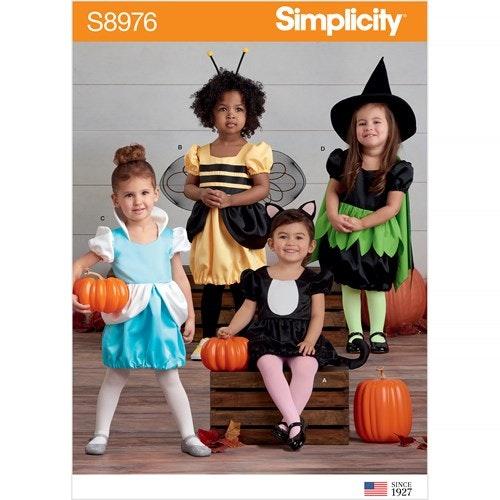 Simplicity 8976 A Barn Storlek 1/2-4 Utklädningskläder