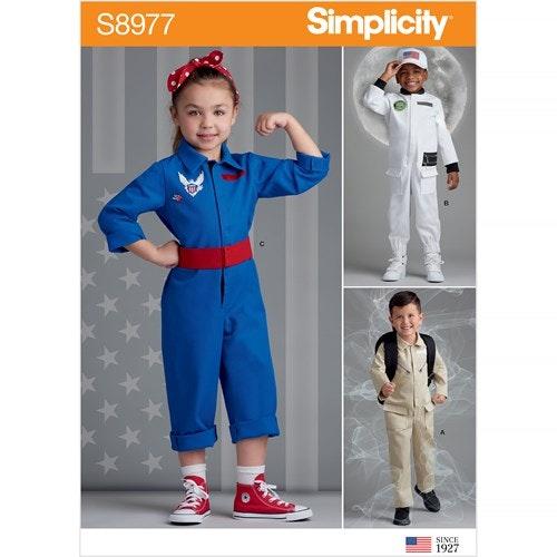 Simplicity 8977 A Barn Storlek 3-8 Utklädningskläder