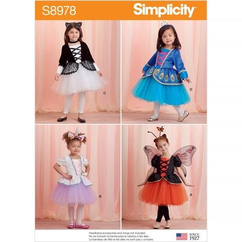 Simplicity 8978 AA Barn Storlek 1/2-2 Utklädningskläder
