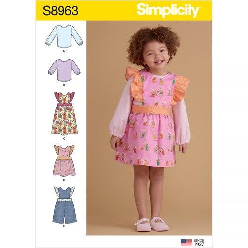 Simplicity 8963 A Barn Storlek 1/2-4 Flera plagg