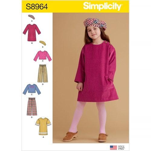 Simplicity 8964 A Barn Storlek 3-8 Flera plagg