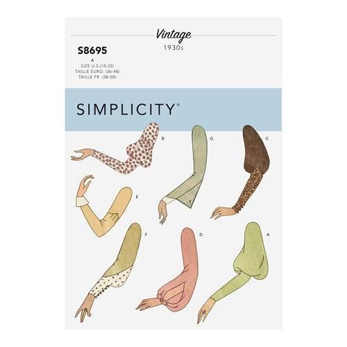 Simplicity 8695 A Dam Storlek 36-48 Ärmar