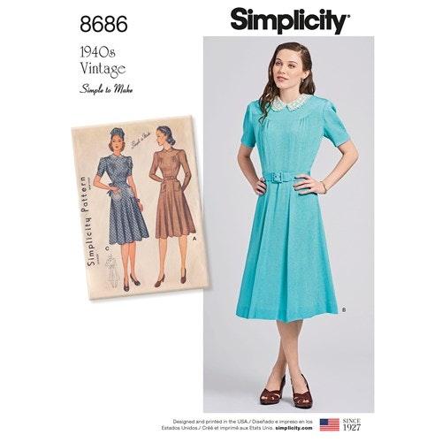 Simplicity 8686 D5 Dam Storlek 30-38 Klänning