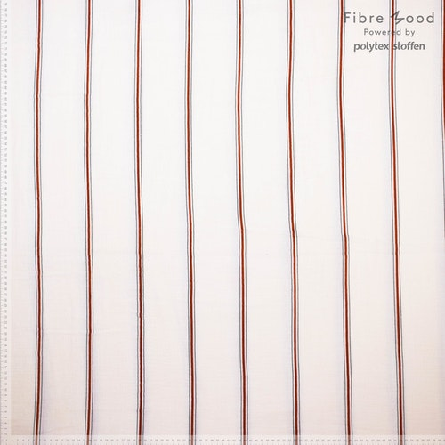 Fibre Mood 15 Muslin - Lou White with red stripes Naturvit botten