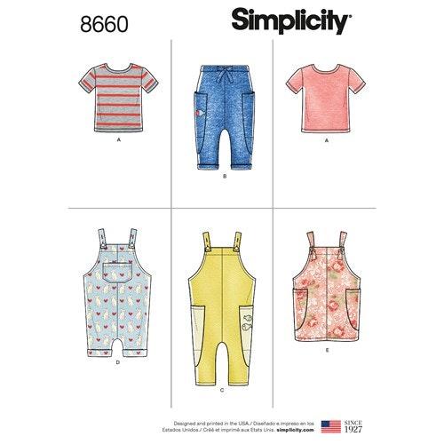 Simplicity 8660 A Barn storlek 1/2-4 Flera plagg