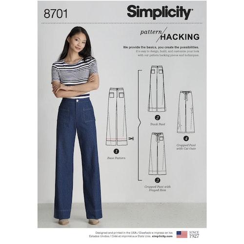 Simplicity 8701 H5 Dam storlek 32-40 Byxa