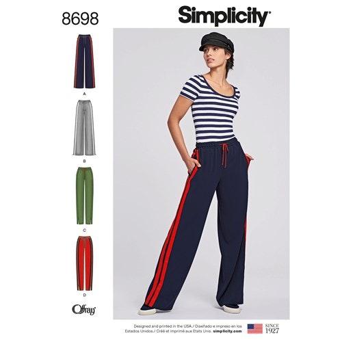Simplicity 8698 A Dam storlek XS-XL Byxa