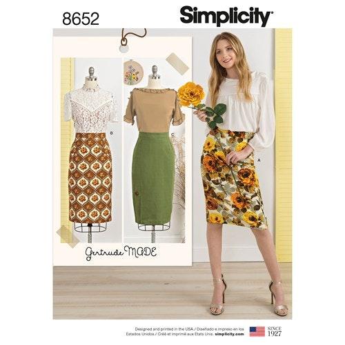 Simplicity 8652 H5 Dam storlek 32-40 Kjol