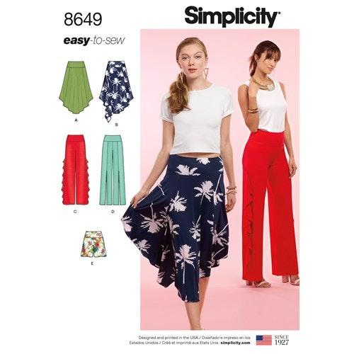 Simplicity 8649 D5 Dam storlek 30-38 Flera plagg
