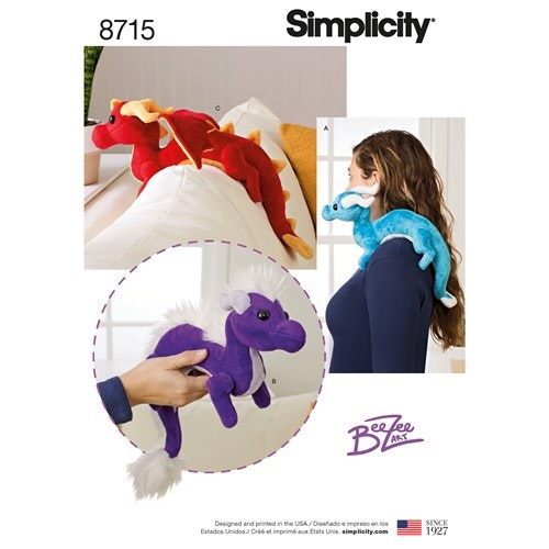 Simplicity 8715 OS Gosedjur Drake