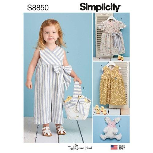 Simplicity 8850 A Barn storlek 1/2-4 Flera plagg