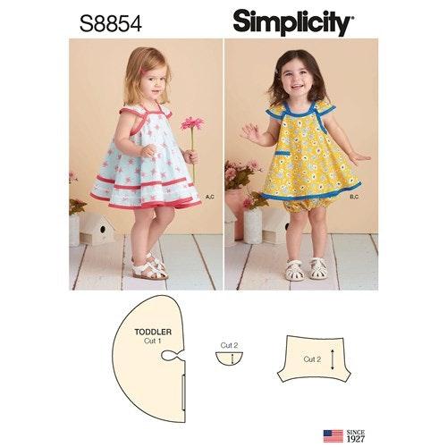 Simplicity 8854 A Barn Storlek 1/2-4 Klänning