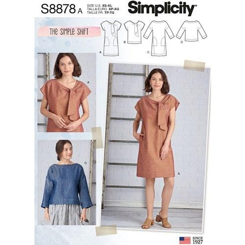Simplicity 8878 A Dam Storlek XS-XL Flera plagg
