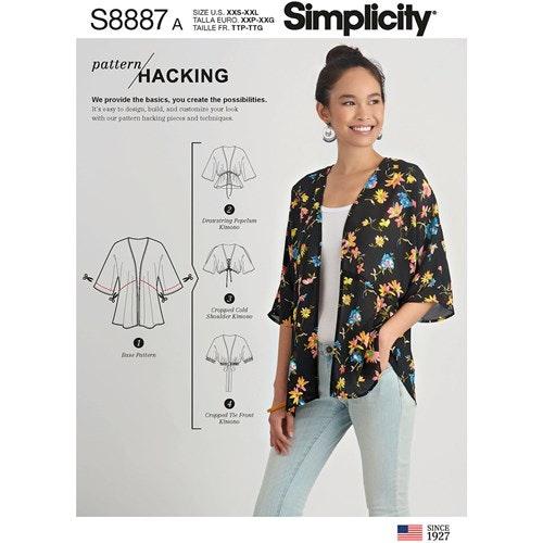 Simplicity 8887 A Dam Storlek XXS-XXL Kimono