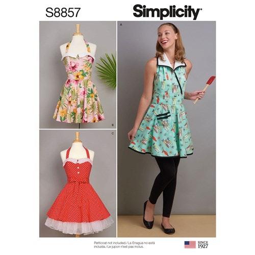 Simplicity 8857 A Dam Storlek S-L Förkläde
