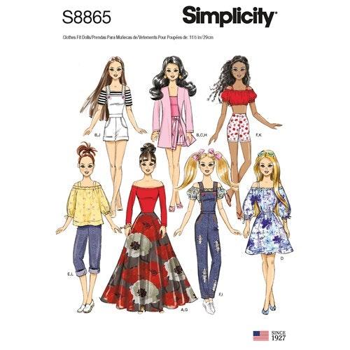 Simplicity 8865 OS Dockkläder 29 cm