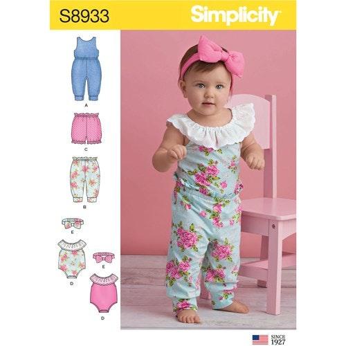 Simplicity 8933 A Barn Storlek XXS-L Flera plagg
