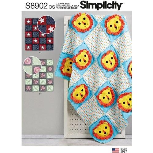 Simplicity 8902 OS Barn Lapptäcke