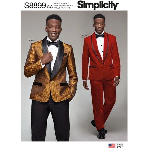 Simplicity 8899 AA Herr Storlek 44-52 Frack