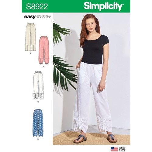 Simplicity 8922 H5 Dam storlek 32-40 Byxa