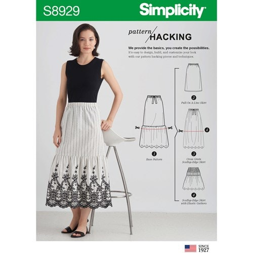 Simplicity 8929 A Dam storlek XXS-XXL Kjol