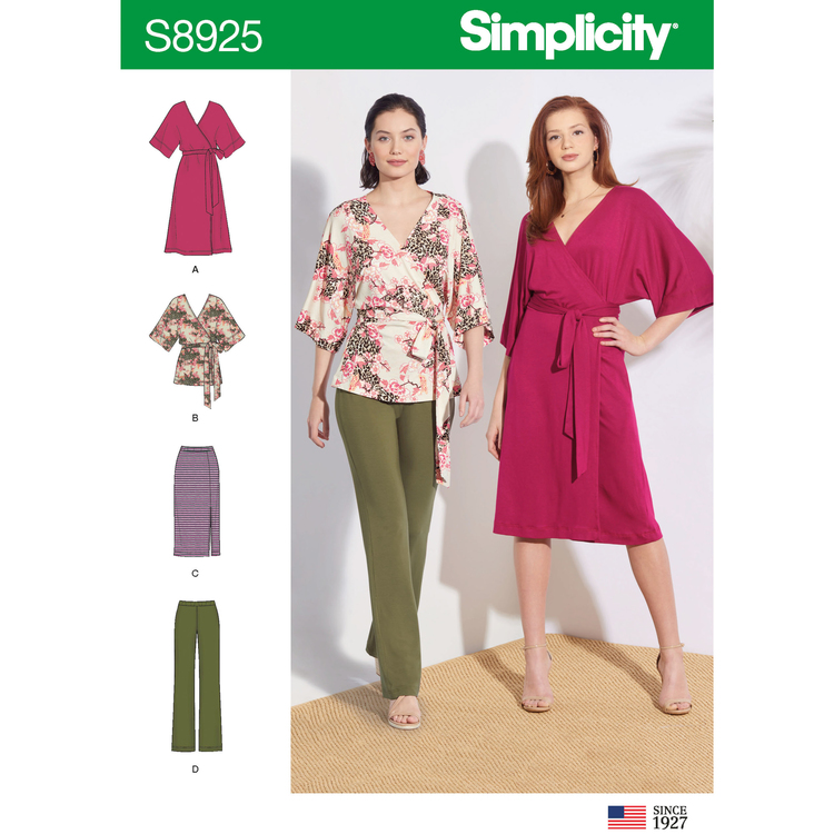Simplicity 8925 A Dam Storlek XXS-XXL Flera plagg