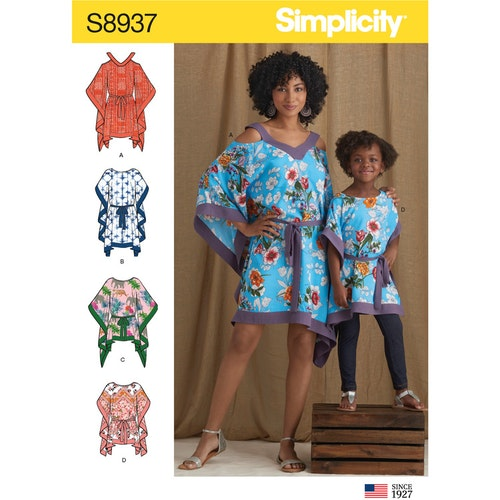 Simplicity 8937 A Barn / Dam Storlek S-L / S-XL Kaftan
