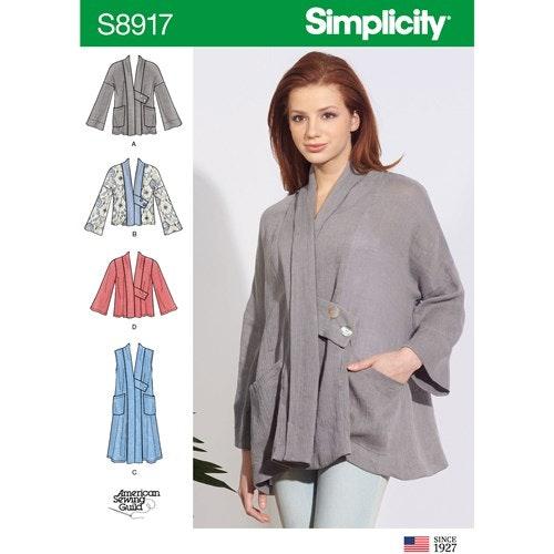 Simplicity 8917 A Dam Storlek XS-XL Överdel