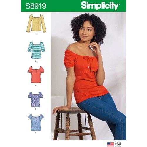 Simplicity 8919 A Dam Storlek XXS-XXL Överdel