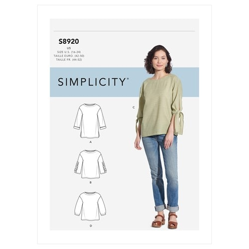 Simplicity 8920 H5 Dam Storlek 32-40 Överdel